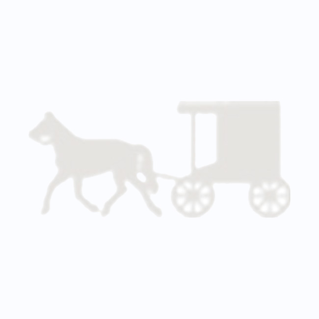 Amish Made Stained Goat Wagon - Rosewood Red